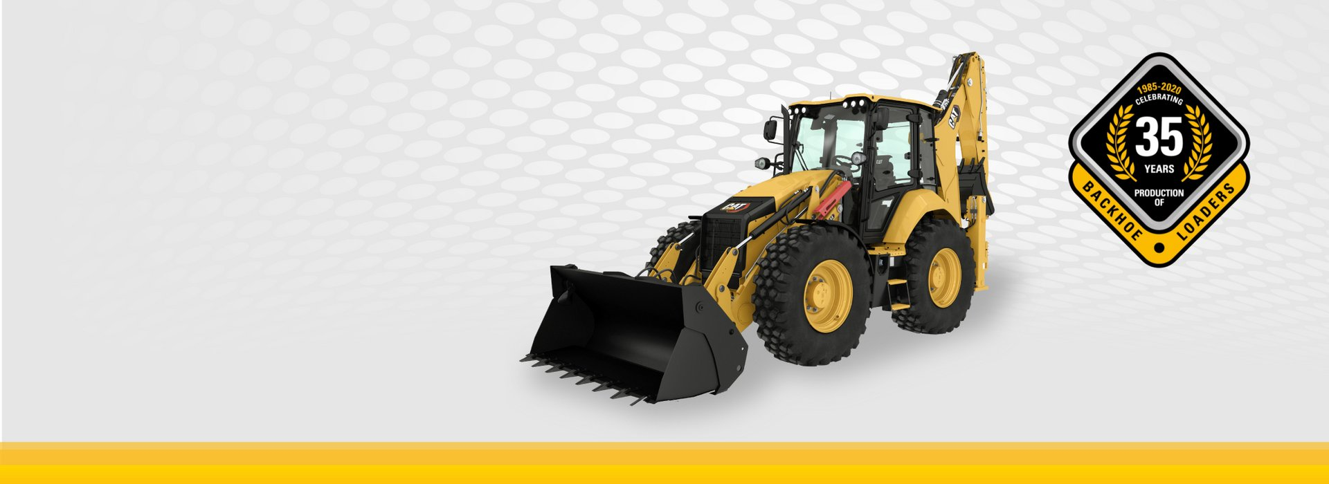 [Translate to Latvian:] Cat backhoe loaders