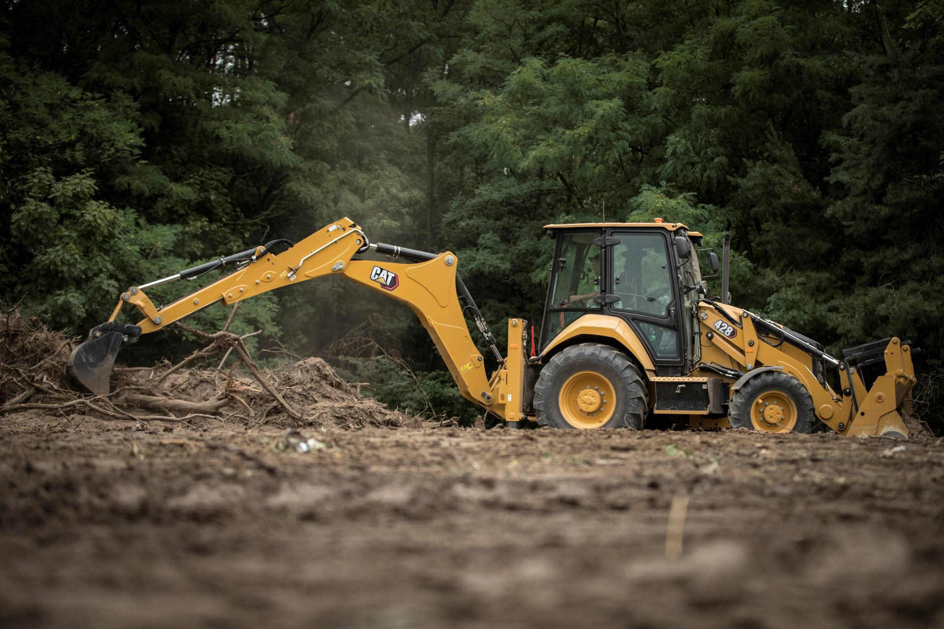 Cat 428 backhoe loader