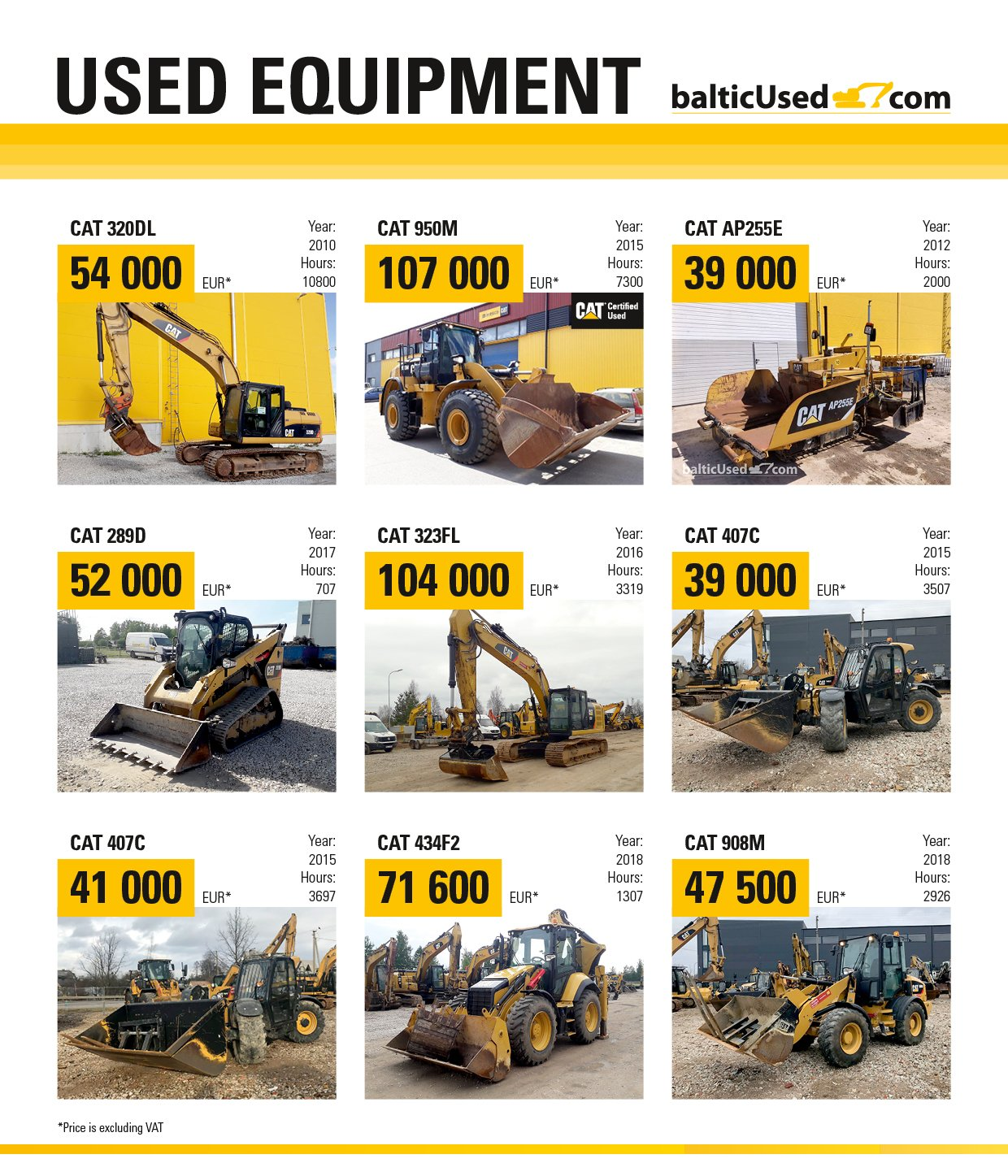 Avesco used equipment special monthly offer