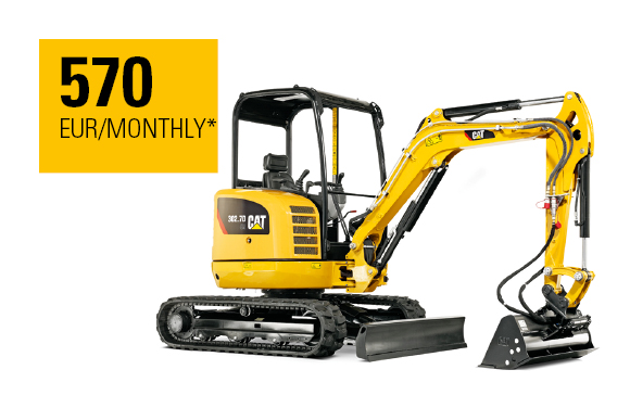 Cat® 302.7D CR Mini Hydraulic Excavator