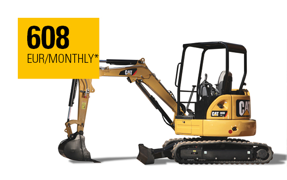 Cat® 303E CR Mini Hydraulic Excavator