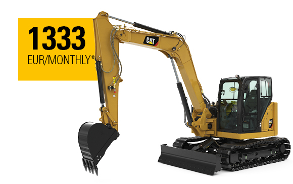 Cat® Next Generation 308 CR Mini Hydraulic Excavator